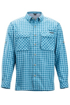 Air Strip Gingham L/S, Dk Aegean, medium
