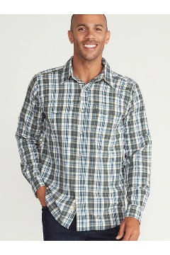 Men's Estacado Long-Sleeve Shirt, Nori, medium