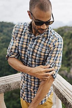 Men's Estacado Long-Sleeve Shirt, Nori, medium