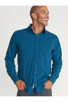Men's Tellico Long-Sleeve Shirt, Galaxy, medium