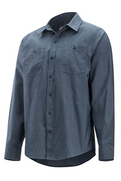 Gaillac LS Shirt, Navy, medium
