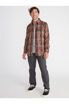 Men's Stonefly Midweight Flannel Shirt, Rust, medium