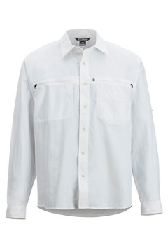 Men's Reef Runner Long-Sleeve Shirt, White, medium