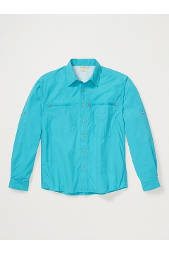 Men's Reef Runner Long-Sleeve Shirt, Algiers Blue, medium