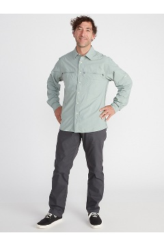 Men's Reef Runner Long-Sleeve Shirt, Bonsai, medium