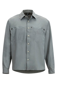 Men's Reef Runner Long-Sleeve Shirt, Grey Storm, medium