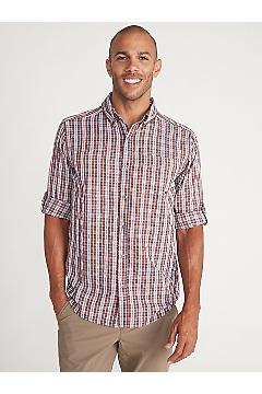 Men's Sailfish Long-Sleeve Shirt, Redwood, medium