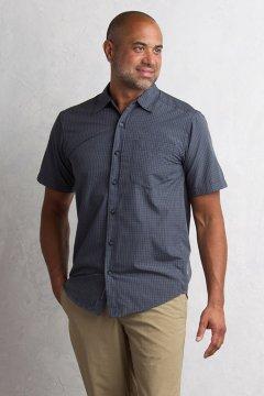 Salida Plaid Shirt S/S, Cement, medium