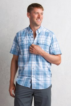 Ventana Plaid S/S, Deep Water, medium