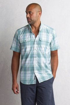 Ventana Plaid S/S, Gecko, medium