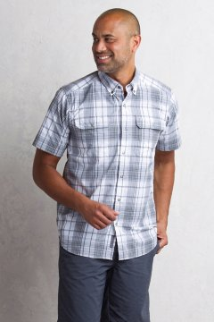 Ventana Plaid S/S, Cement, medium