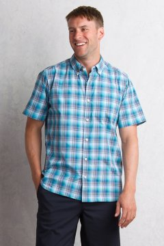 Sol Cool Leman Plaid S/S, Deep Water, medium