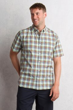 Sol Cool Leman Plaid S/S, Gecko, medium