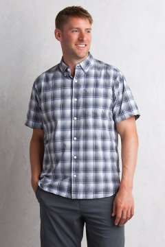 Sol Cool Leman Plaid S/S, Cement, medium