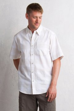 Lampara Plaid S/S, White, medium