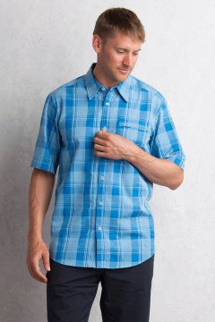 Lampara Plaid S/S, Deep Water, medium