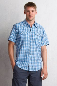 Arruga Plaid S/S, Deep Water, medium