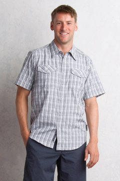 Arruga Plaid S/S, Cement, medium