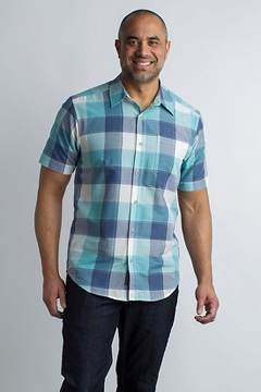 Next-To-Nothing Artesia Plaid S/S, Poolside, medium