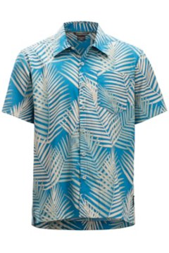 Next-To-Nothing Pindo Print SS Shirt, Dk Aegean, medium