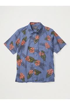 Men's Next-To-Nothing Pindo Print Short-Sleeve Shirt, Storm Orchid, medium