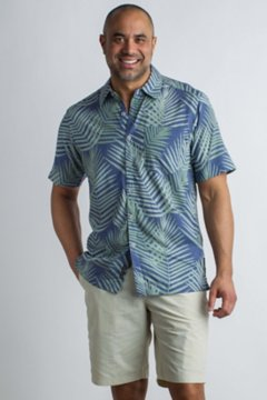 Next-To-Nothing Pindo Print S/S, Indigowash, medium