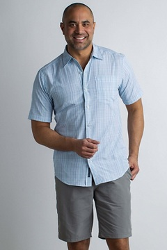 Salida Ombre Plaid S/S, Breeze, medium