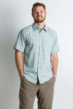 Sol Cool Chill Plaid S/S, Dusty Sage, medium
