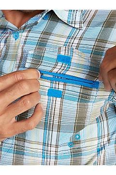 Men's Estacado Short-Sleeve Shirt, Clear Blue, medium