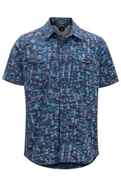 Estacado SS Shirt, Navy Fishline, medium