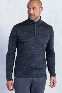 Termo Quarter Neck L/S, Black Heather, medium