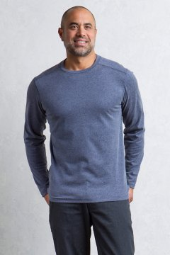 Powell Crew L/S, Navy Melange, medium