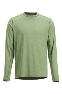 Sol Cool Sun Crew LS Shirt, Wheatgrass, medium