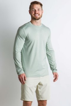 Sol Cool Sun Crew L/S, Dusty Sage, medium