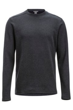 Powell Crew L/S, Black Heather, medium