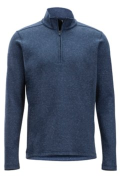 Powell 1/4 L/S, Navy Heather, medium