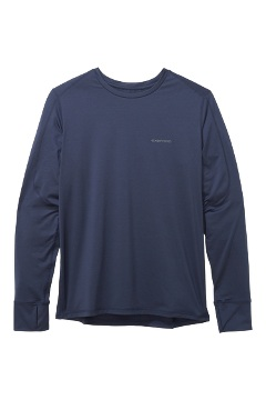 Men's Sol Cool Bayview UPF 50 Long-Sleeve Shirt, Navy, medium