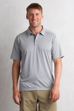 Sol Cool Signature Polo, Cement, medium
