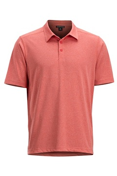 Sol Cool Signature Polo Shirt, Spiced Coral, medium