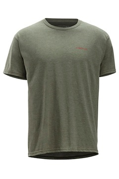 Excursion Short Sleeve Tee, Olive Heather, medium