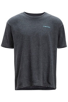 Excursion Short Sleeve Tee, Charcoal Heather, medium