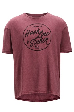 Hook Line and Sinker SS Tee, Burgundy Heather, medium