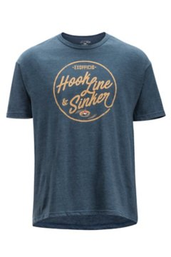 Hook Line and Sinker SS Tee, Navy Heather, medium