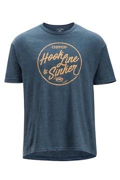 Hook Line and Sinker SS Tee, Navy Heather, medium