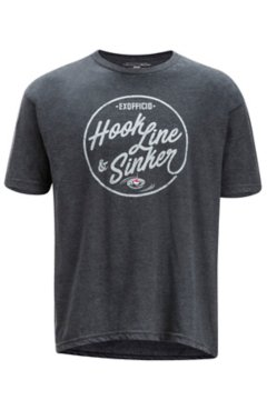 Hook Line and Sinker SS Tee, Charcoal Heather, medium