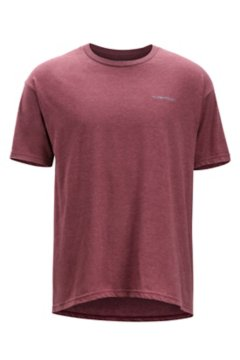 Fly Line Tee SS Tee, Burgundy Heather, medium