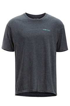 Fly Line Tee SS Tee, Charcoal Heather, medium
