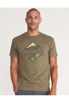 Men's Diamond Short-Sleeve T-Shirt, Olive Heather, medium
