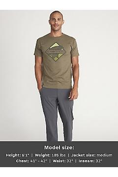 Men's Diamond Short-Sleeve T-Shirt, Olive Heather, medium