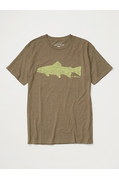 Men's Stamp Short-Sleeve T-Shirt, Olive Heather, medium